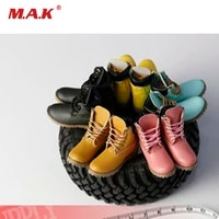 16 female soldier hollow handmade shoes tooling rhubarb boots model accessories fit 12 inch action figure body