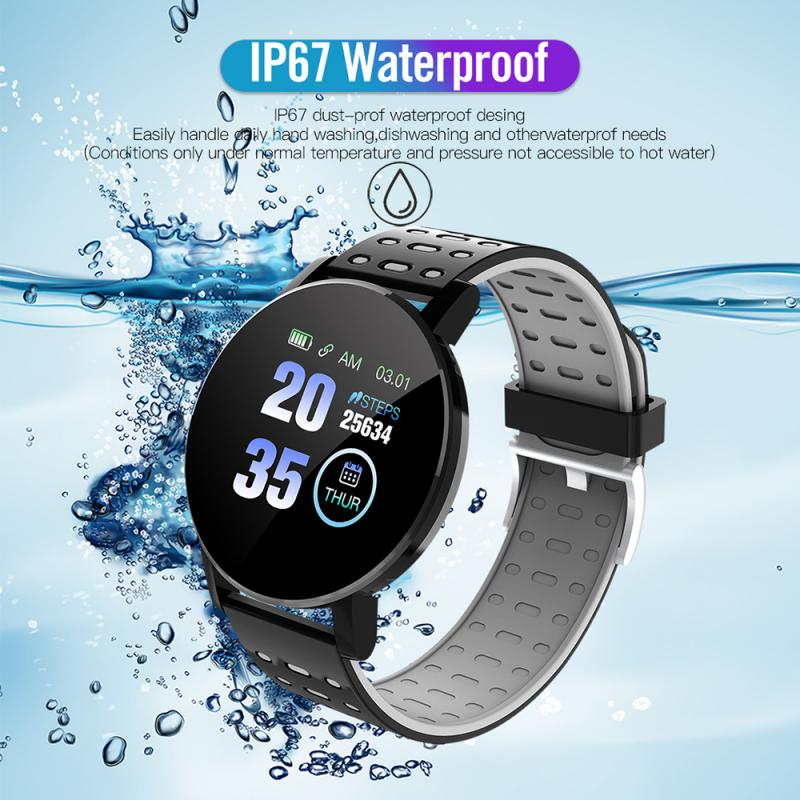 HOT SALE 119Plus 2020 Bluetooth Smart Watch Men Blood Pressure Smartwatch Women Watch Sport Tracker WhatsApp For Android iOS