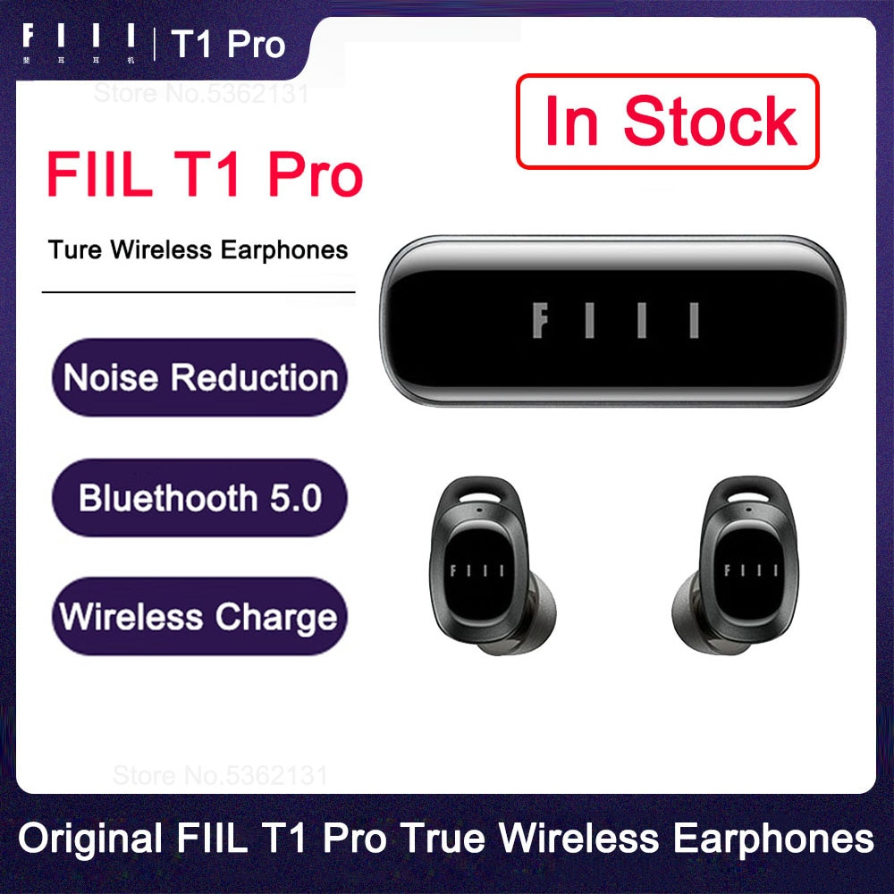 FIIl T1 Pro Automatic Noise Reduction True Wireless Earbuds TWS Bluetooth 5.2 Earphones With Microphone For Xiaomi Huawei iPhone