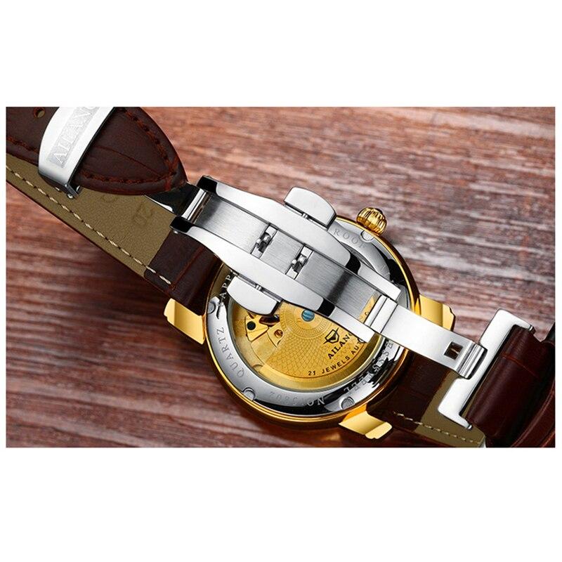 AILANG New Business Luminous Watch Men Tourbillon 50M Deep Waterproof Multifunctional Automatic Mechanical Watches 5802B enlarge