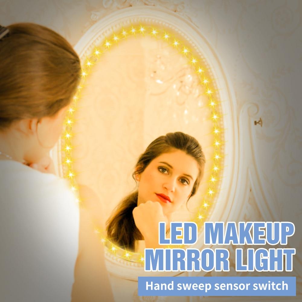 PIR Led Mirror Lights Makeup Dressing Table Backlight Light Strip Usb Dimming Waterproof Bedroom Decorative Bar