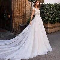 eightree cap sleeve a line wedding dresses lace appliques beach boho bridal dress v neck backless wedding gown vestido de novia
