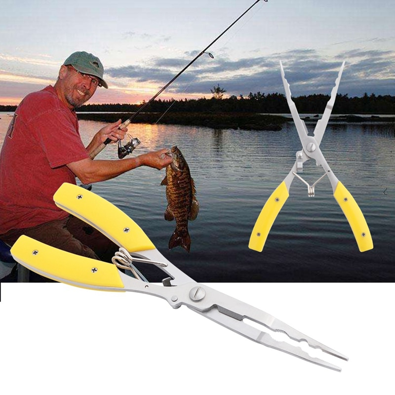 1Pc Multifunctional Fishing Plier Hook Removers Stainless Steel Carp Fishing Accessories Plastic Handle Cut Line Cutter Scissors enlarge