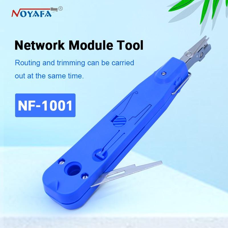 NOYAFA nf-1001 Blau Krone Lsa-plus Telecom Telefon Draht Kabel RJ11 RJ45 Anlege Netzwerk Tool Kit