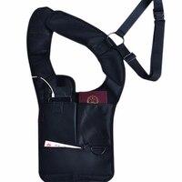 Наплечная кобура для подмышек, регулируемая противокражная безопасная Скрытая сумка, прочная Противоударная для планшетов с искусственны...