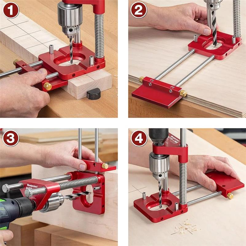 Woodworking Positioning Tool Portable Drill Locator Woodpeckers Precision Positioner Wood Boring Machine Machinery