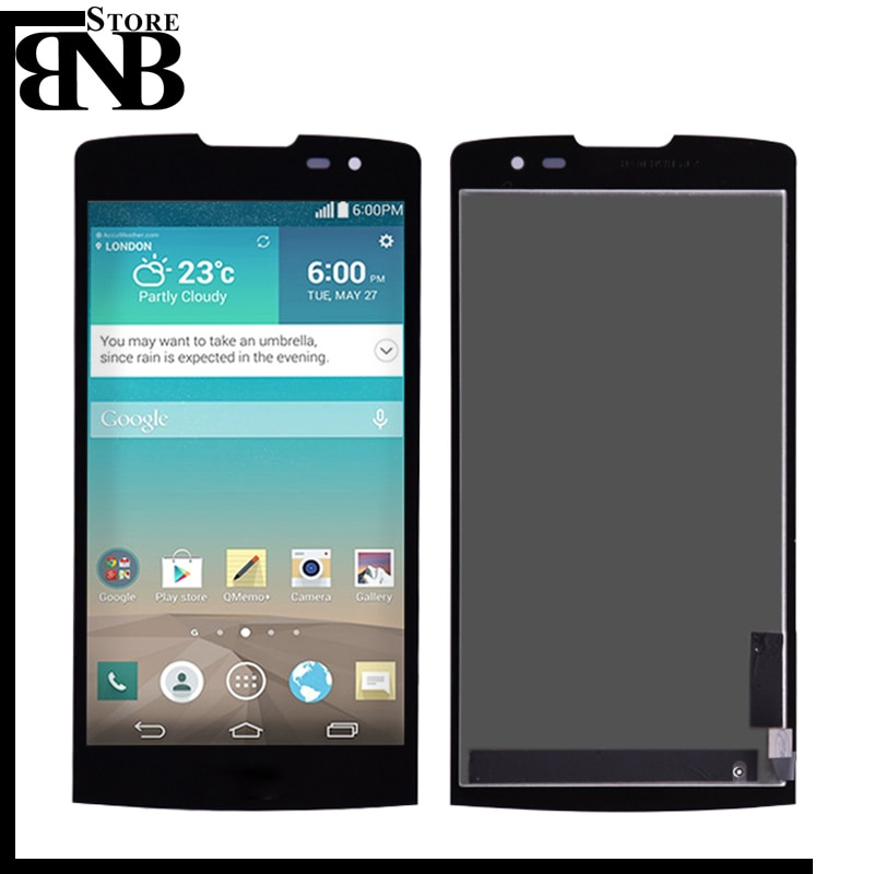 ЖК-дисплей для LG Leon H340 h320 h324 H340N H326 MS345 C50 H342, кодирующий преобразователь сенсорного экрана в сборе с рамкой черного цвета