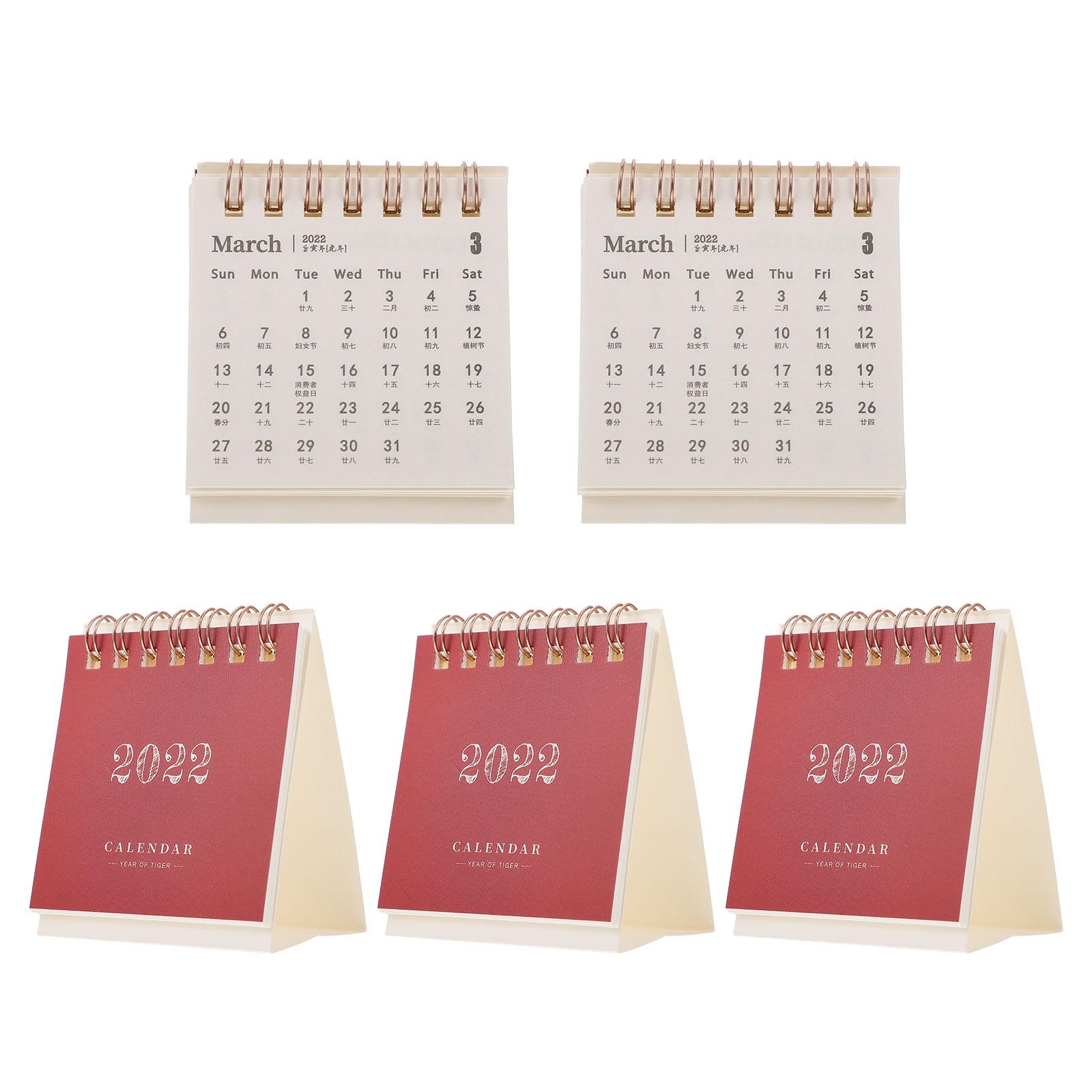 5 шт креативные 2022 календари расписание календари домашние настольные календари
