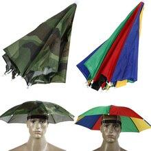 Cappello per ombrellone da esterno anti-pioggia copricapo anti-sole cappellino da sole pieghevole pesca Golf ciclismo escursionismo campeggio ombrellone cappello
