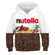 Impression 3D Takis Ramen nouilles Nutella enfants blouson à capuche pour adolescents filles garçons vêtements de sport enfants pull à capuche