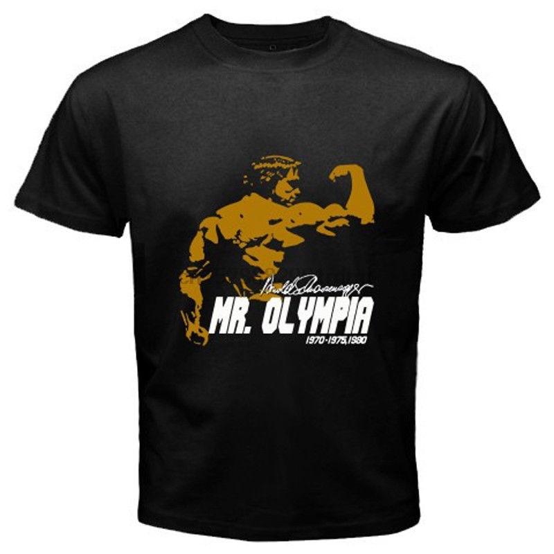 Arnold Schwarzenegger Mr. Olympia Body Building Champ Black T-Shirt Size S-5xl 100% Cotton Tee Shirt Tops Wholesale Tee