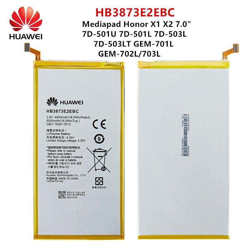 """100% Orginal Huawei X1 X2 HB3873E2EBC 5000mAh Bateria Para Mediapad 7.0 """"/7D-501U 7D-501L 7D-503L 7D-503LT GEM-701L/702L/703L"""