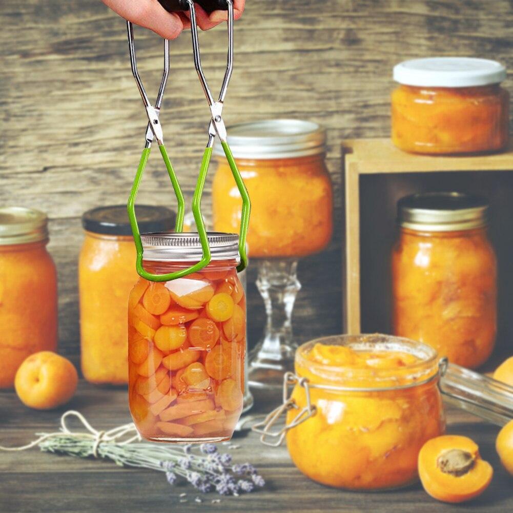 Casa cozinha braçadeira transporte funil dobrável de silicone com alça de aperto canning jar levantador conjunto grabber antiderrapante escaldante