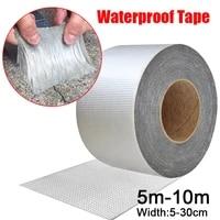 high temperature resistance waterproof tape aluminum foil thicken butyl tape wall crack roof duct repair adhesive tape 5 10m