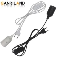 1 8m power cord cable lamp bases eu plug with switch wire for pendant led bulb e27 hanglamp suspension socket holder