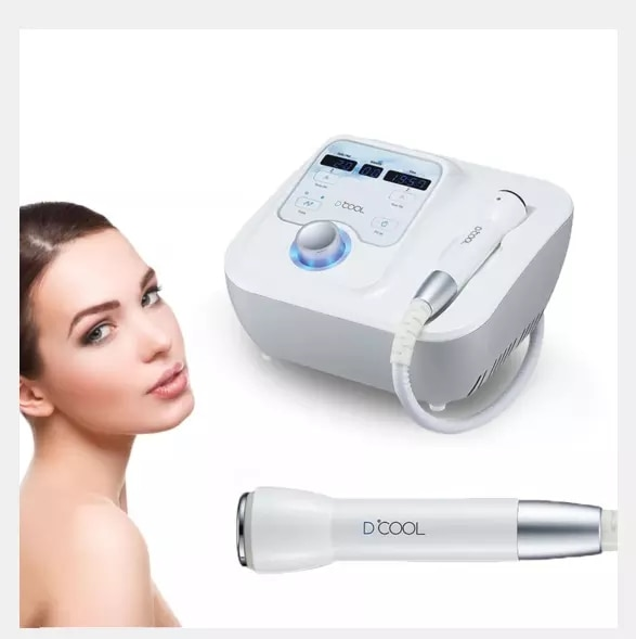 Korea Dcool Import Essence Skin Tightening Anti Puffiness Facial Electroporation Machine Cool + Hot + EMS