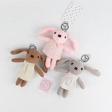 Lapin en peluche mignon, mignon, jouet en peluche, Animal de dessin animé, Kawaii, porte-clés en tissu doux, cadeau de pâques