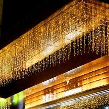 Rideau glaçon Led chaîne lumières 220V 5m Droop 0.4-0.5-0.6m fée lumières pour avant-toit jardin balcon décoration de noël