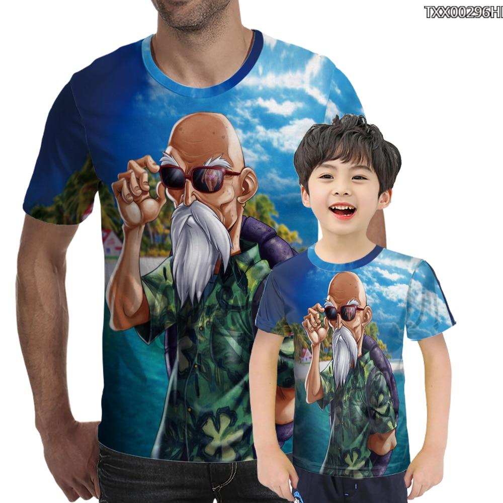 Nouveau Dragon Ball T-shirt Animation Dragon Ball série Wukong tortue fée/3d imprimé T-shirt mode col rond hommes et femmes
