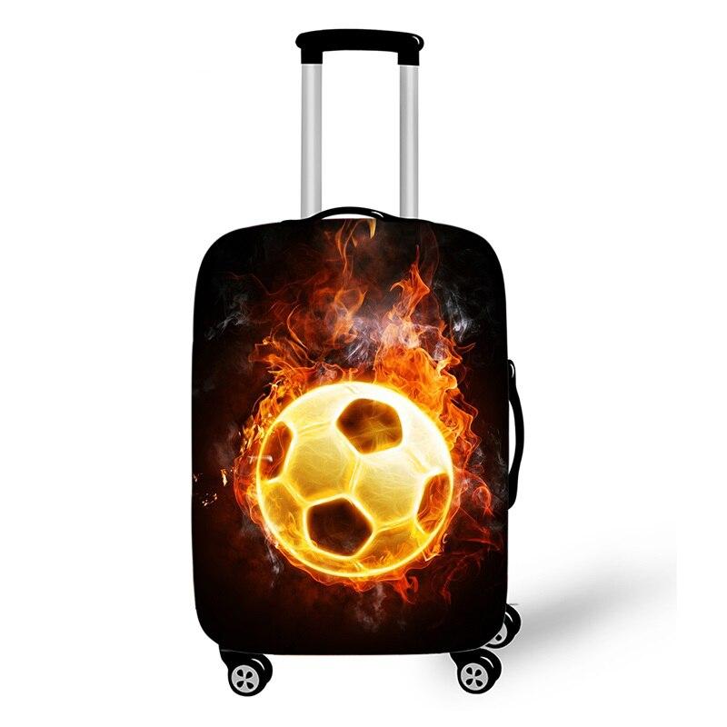 18 -32 Cool Footbally elástico equipaje cubierta protectora Trolley maleta bolsa de polvo caso de dibujos animados Soccerly accesorios de viaje