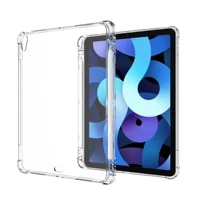 case for ipad pro 11 10 5 10 2 9 7 air 4 3 2 1 2016 2017 2018 2019 2020 clear soft silicone with pencil holder back cover cases