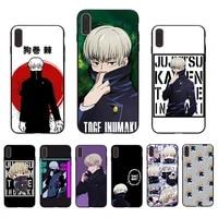manga toge inumaki anime jujutsu kaisen phone case for iphone xs max xr x cover 6 6s 7 8 plus 11 pro 12 mini se 2020 5s 10 shell