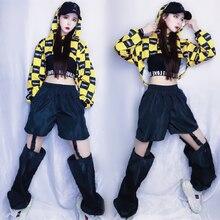 New Jazz Dance Costume Hip Hop Street Dance Nightclub DJ Female Singer Performance Suit Coat Vest Pants Three Pieces Set DWY3822
