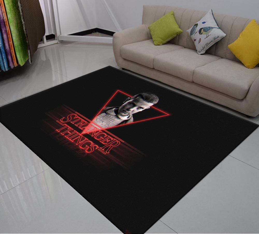 Alfombra con estampado 3D de Stranger Thing, alfombra de película caliente para el suelo, alfombra del piso de sala de estar, alfombras suaves para dormitorio de niños, alfombras para exteriores