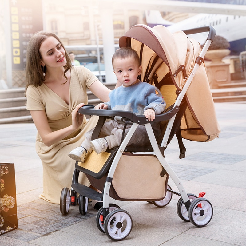 Baby Stroller Is Light To Sit Reclining and Folding Baby Stroller Winter and Summer Dual-purpose Childrens Umbrella Cart Trolley