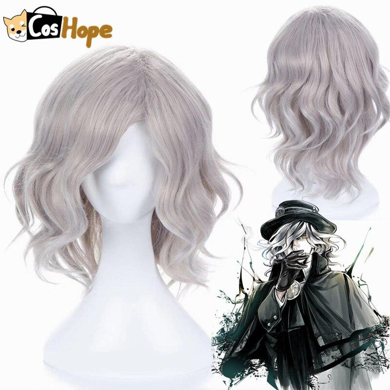 Edmond dantes anime cosplay fate grand order men curto encaracolado onda peruca cosplay anime resistente ao calor perucas sintéticas dia das bruxas