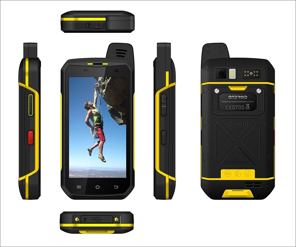 Zello Walkie Talkie B6000 4G LTE Cellphone PTT Octa Core IP68 Waterproof Smartphone 4GB+64GB 5000mAh NFC Android 6.0 enlarge