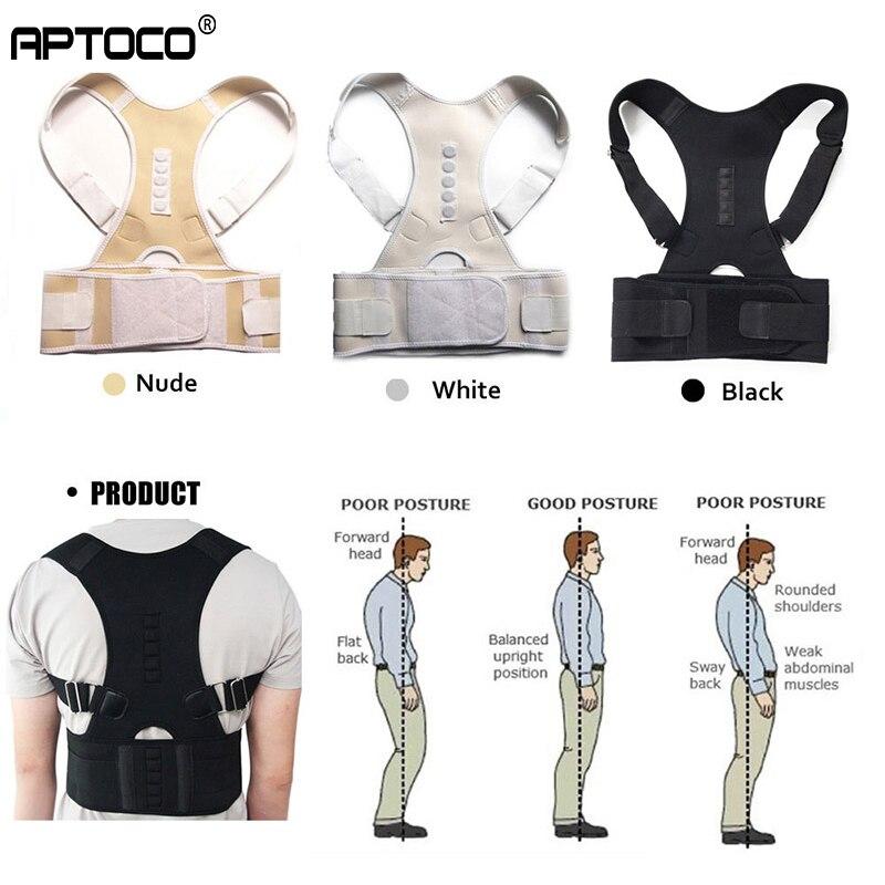 Aptoco Корректор осанки для магнитной терапии поддержка дизайн помогает Поддержка ремень для Для мужчин Для женщин подтяжки и Поддержка s плечевой ремень осанки