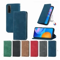 etui magnetic closure wallet cases for huawei honor 10 lite 20 p40 pro p30 lite p smart 2021 2020 z s nova 5t book stand cover