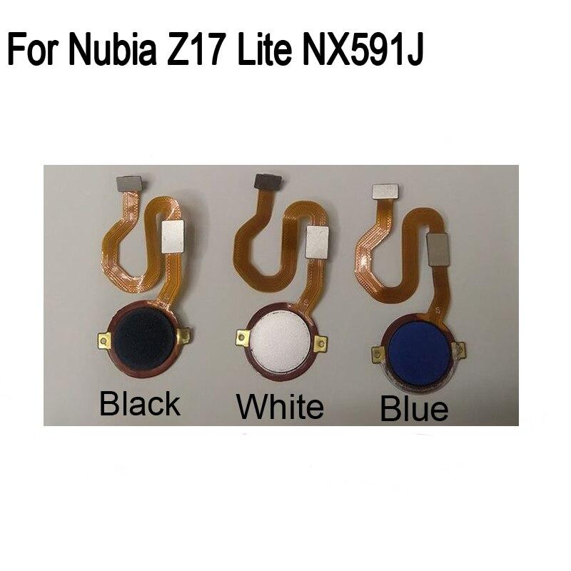 Para Núbia Z17Lite NX591J NubiaZ17Lite Fingerprint sensor Botão Home Flex Cabo do Sensor De Impressão digital