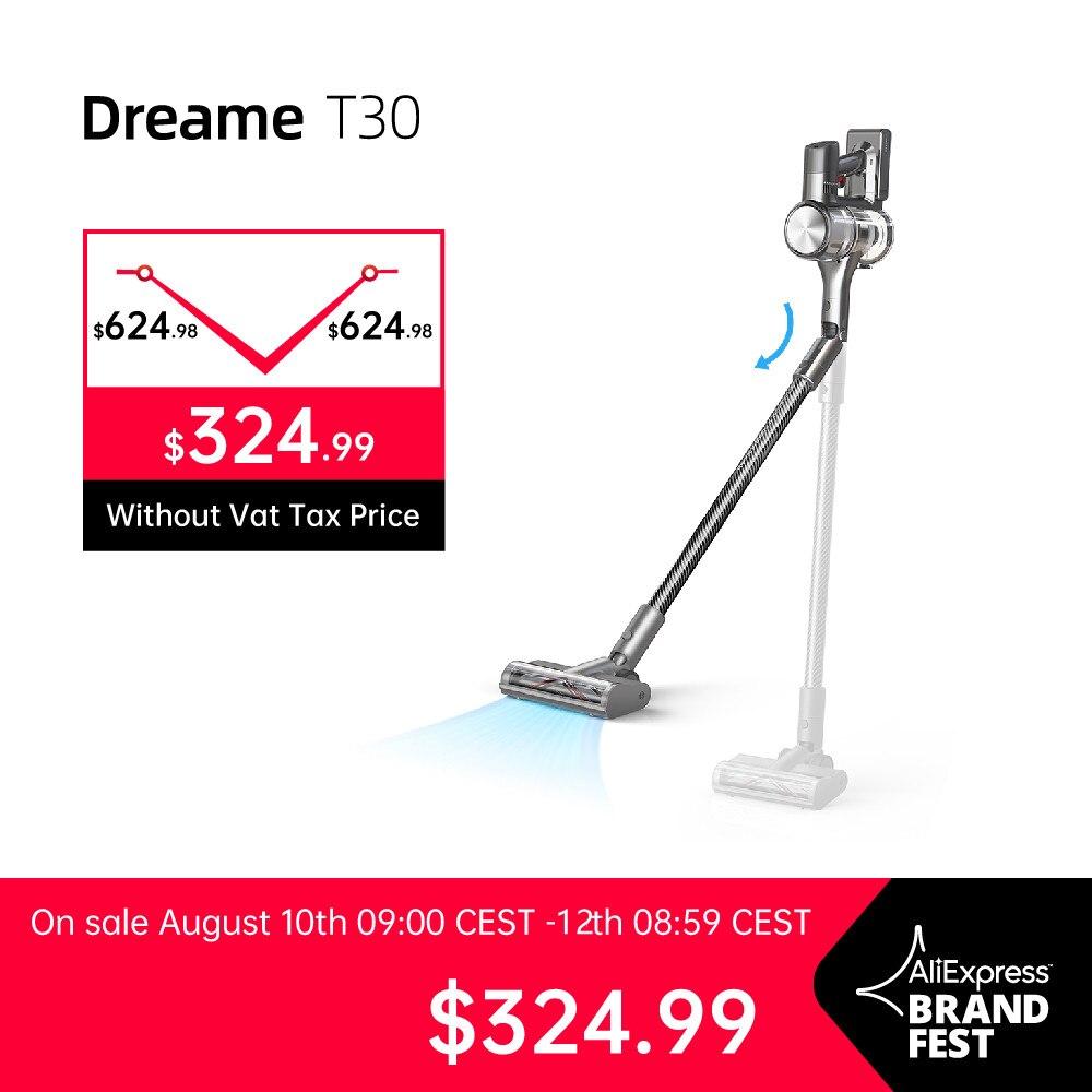 dredreame t30 handheld aspirador de pó sem fio 27kpa anti-emaranhado escova eletrodomésticos aspirador de chão