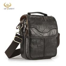 Qualité Original en cuir mâle décontracté épaule sac de messager peau de vache mode sac à bandoulière 8