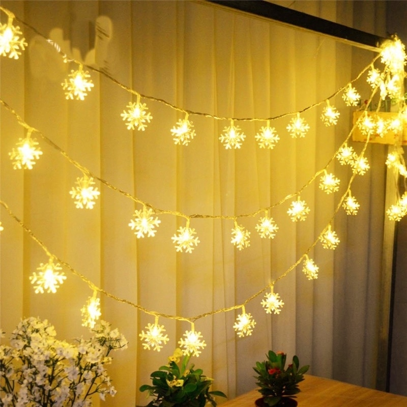 2M 20LED Christmas String Fairy Lights Snowflake Led Garland for Merry Christmas New Year Gifts Xmas Tree Decorations Home Decor недорого