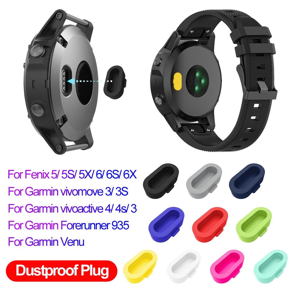 Funda protectora de silicona para relojes inteligentes, resistente al polvo, para Garmin Vivoactive 3 4 4S Fenix 6 6S 6X 5 5X 5S Forerunner 935, acceso colorido