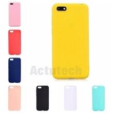 Coque de téléphone couleur bonbon pour Coque Hawei Y5 2018 Coque arrière en silicone souple pour étui Huawei Y5 2018 Y 5 5Y