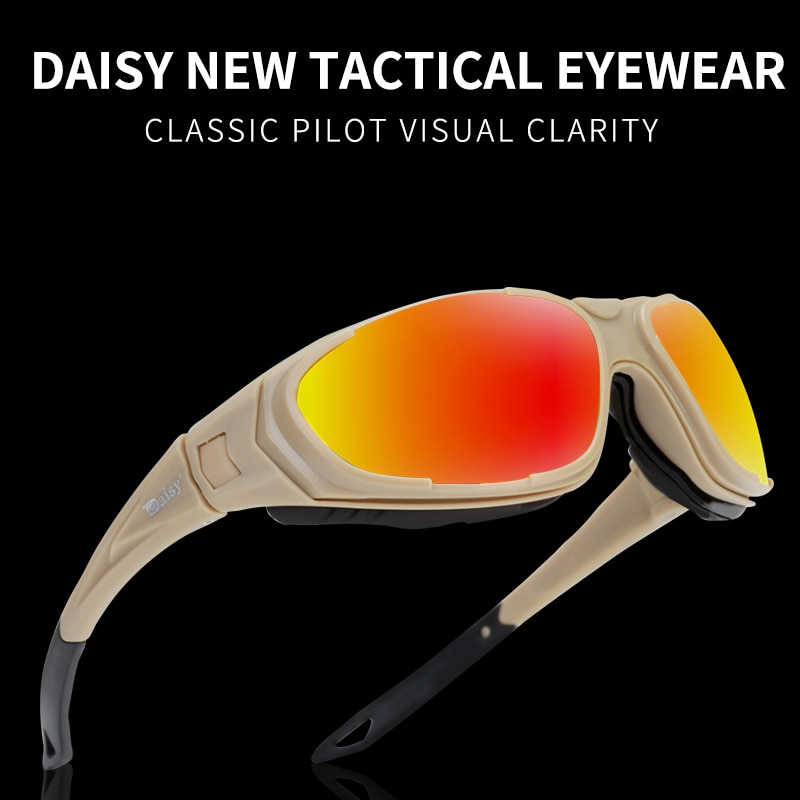 2021 Daisy Brand UV400 Tactical Glasses Military Goggles Military Sunglasses Men's Shooting Glasses