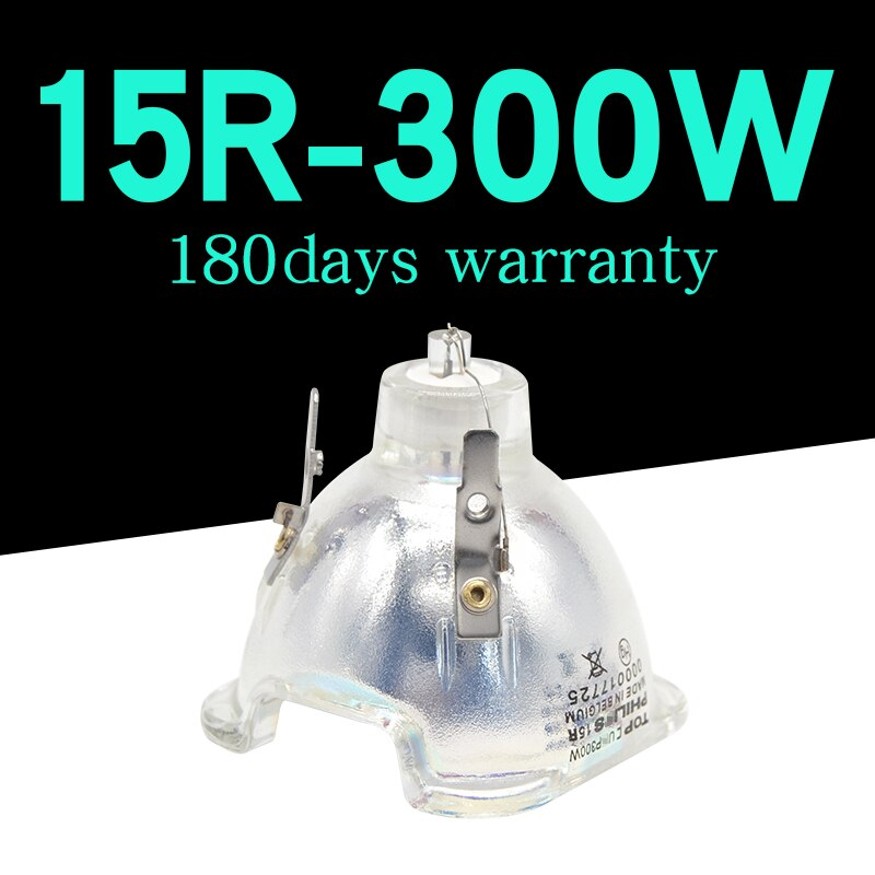 Foco de cabeza móvil 300 w, lámpara de haz 15R UHP 300 w e21,8/lámpara Sharpy 300 vatios, luz de mercurio de repuesto para foco de discoteca