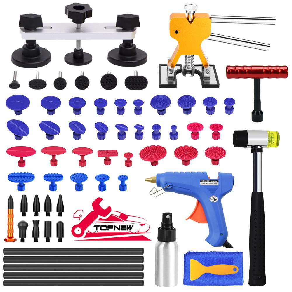 Auto Paintless Dent Repair Kits - Car Dent Puller with Bridge Dent Puller Kit for Automobile Body Motorcycle Refrigerator