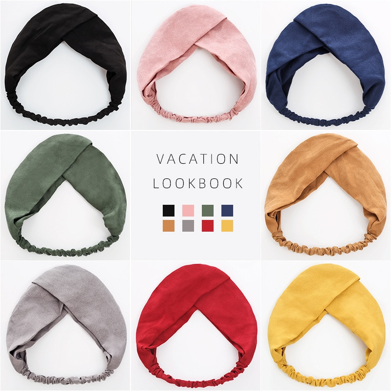 Женская однотонная повязка на голову, тюрбан для женщин, эластичный головной убор, женские аксессуары для волос, полосатые повязки для воло...