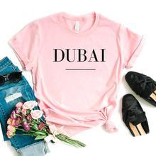 Дубай буквенный принт женские футболки хлопок Повседневная забавная Футболка для леди Yong Девушка Топ тройник хипстер 6 цветов NA-913