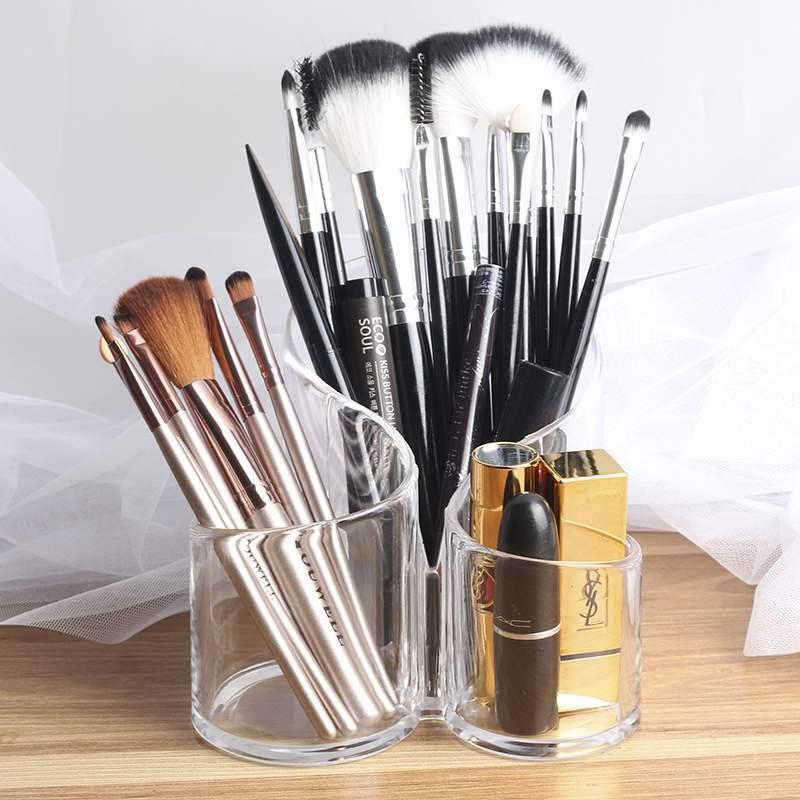 Claro acrílico transparente cosméticos maquiagem escova titular suporte organizador lábio suporte para uso diário feminino casa