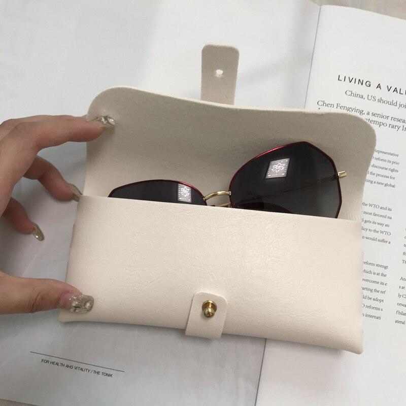 Glasses Case Women Leather Soft Glasses Bag Fashion Portable Sunglasses Box Bag Accessories Eyeglass