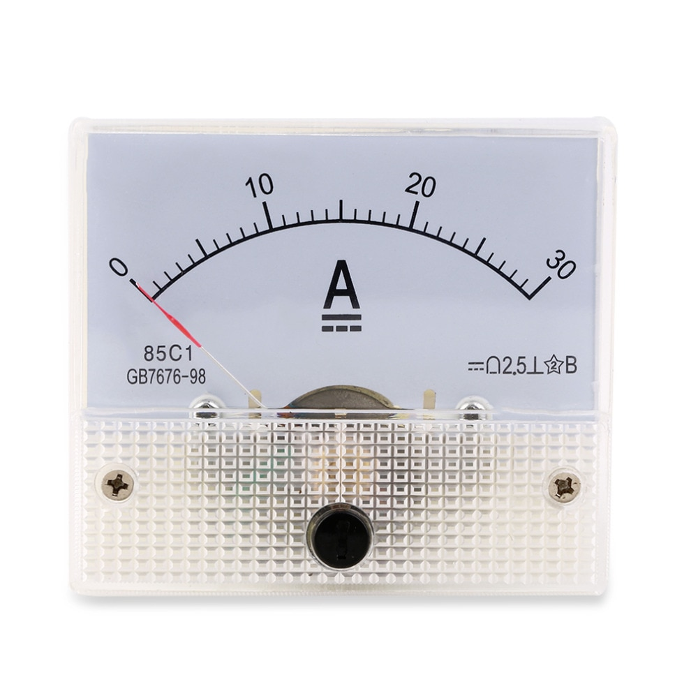 Panel Amperímetro analógico CC 30A, amperímetro de corriente 0-30a, DC no necesita derivación, oferta en Stock