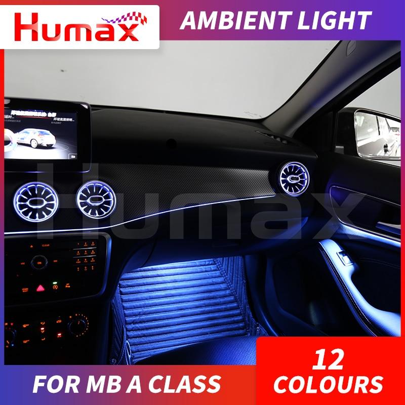 12 couleurs LED lampe dambiance pour une classe W176 A200 A300 illuminé voiture intérieur style bricolage lumière ambiante