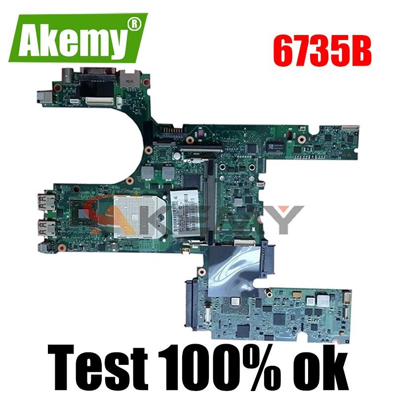 AKemyLaptop لوحة رئيسية لأجهزة HP كومباك 6735b 6535b اللوحة 488194-001 المقبس s1 DDR2 شحن وحدة المعالجة المركزية