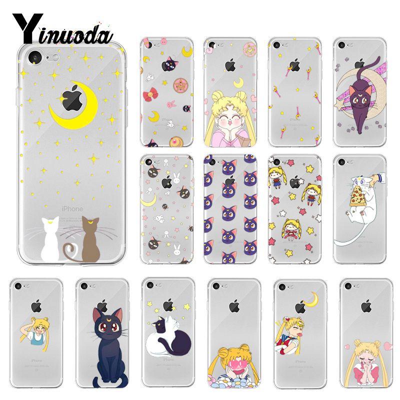 Yinuoda marinheiro lua luna gato diy pintado caso do telefone para o iphone 8 7 6s plus x xs max 5 5S se xr 10 capa